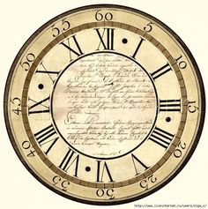 clock face to use in the old CD project Clock Art, Diy Clock, Decoupage Vintage, Clock Face Printable, Old Clocks, Tampons, Vintage Images, Altered Art, Stencils