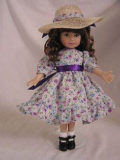 "Handmade Dianna Effner Heartstring 8"" Doll Dress-Country Girl"