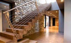 15 Concrete Interior Staircase Designs