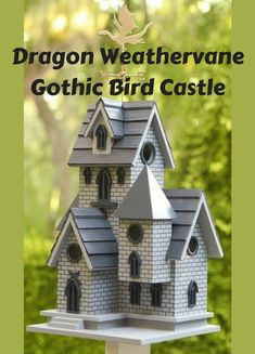 I love this bird house! And despite how intricate it looks, it's easy to clean because there's a door on the backside for cleaning! I also love the idea of having birds in or near my garden to help cut down on bugs, especially mosquitoes! #ad #garden #gardening #birdhouse #birds #bugs