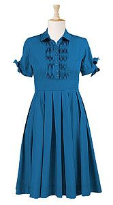 teal dress with pintuck detail - plus size