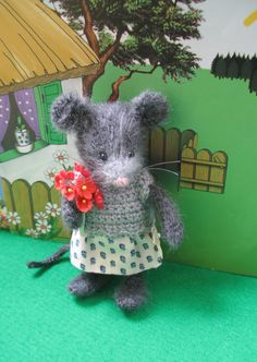 Little Miss Mouse   Handmade mouse doll by dollsandbunnies on Etsy, $38.00