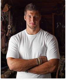 Tim Tebow, I know that everyone thinks he is strange but there is something about him that I find very sexy.