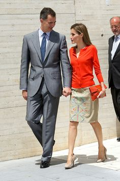 Spanish King Felipe VI and Queen Letizia attend the Delivery of National Innovation and Design Awards 2013 at Science Museum, 01.07.2014 in Valladolid, Spain