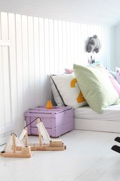 Attic playroom - kids spaces. Selection of the best kids rooms with decor ideas and inspirations for baby rooms, girls rooms, boys rooms... Cute solutions to make this rooms a happy corner. :) see more home design ideas at: www.homedesignideas.eu