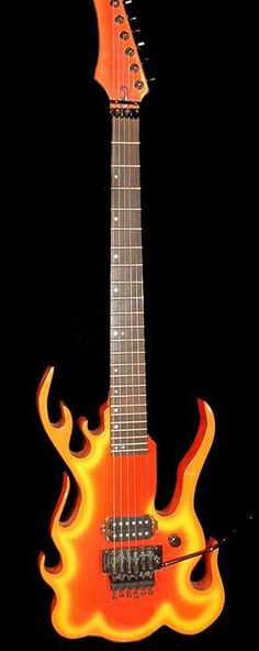 Steve Vais flame guitar