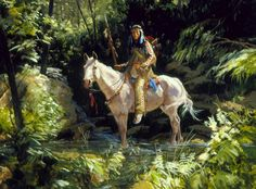 Western Art, Images from the Great West Native American Warrior, Native American Artwork, Native American Artists, American Spirit, American Indian Art, Native American Indians, Great Paintings, Indian Paintings, Native Indian