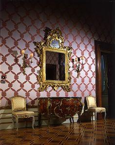 Veduta della Camera da letto del Primo Appartamento Imperiale al Quirinale