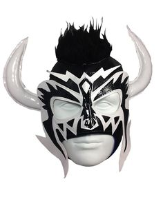 Amazon.com : PSICOSIS Adult Lucha Libre Wrestling Mask (pro-fit) Costume Wear - Black/White : Wrestling Equipment : Sports & Outdoors