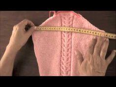 Dos agujas: mangas pegadas: tomando las medidas