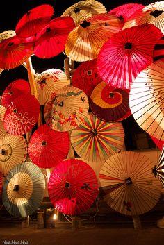 Japanese umbrella light up | Flickr - Photo Sharing!