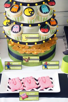 Video game themed party! Perfect to book Games on the Fly for!  #videogameparty #party #ideas www.gamesonthefly.com
