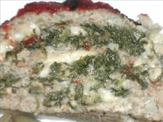 Cheese & Spinach Stuffed Meatloaf from Food.com: This is one of the best meatloaf I have ever had and it is simple to make! A little note - You can use any mixture you like for the meatloaf itself.