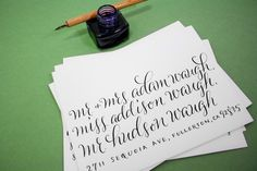 Plurabelle Calligraphy | Vendors & Venues | 100 Layer Cake