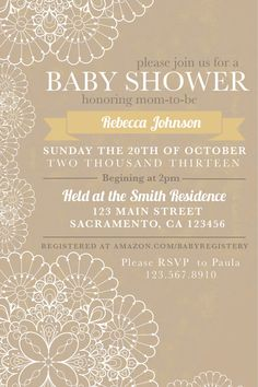 Hey, I found this really awesome Etsy listing at http://www.etsy.com/listing/160706951/burlap-lace-baby-shower-invitation