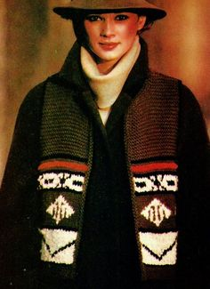 Short Brown Native American Style Vest PDF Knitting Pattern by MomentsInTwine on Etsy