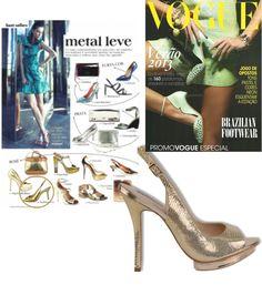 Efeito Metalizado - Revista Vogue  #guilhermina #sapatodeluxo #guilhermina_shoes #trend #Verao2013 #moda #calcadosfemininos #shoes #metalizado