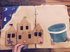 Sandcastle quiet book page. Tips and link to template.