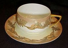 Rosenthal Donatello Cup and saucer acorns oak leaves