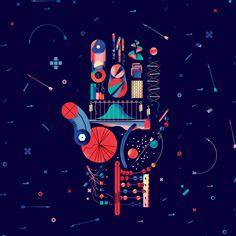 The Anatomy of Everything. Illustration by Bratislav Milenkovic. #nautilusmag #infomation #bratislavmilenkovic #illustration #hand