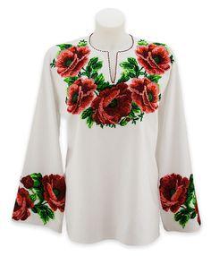 Ukrainian Beaded Blouse / Dress / Skirt / Beaded by aCrossUkraine, $220.00