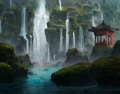 "Check out new work on my @Behance portfolio: ""Island of a Thousand Waterfalls"" http://be.net/gallery/54289151/Island-of-a-Thousand-Waterfalls"