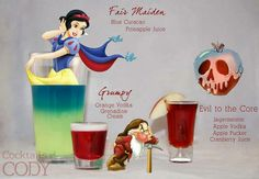 Snow White and the Seven Dwarves cocktail