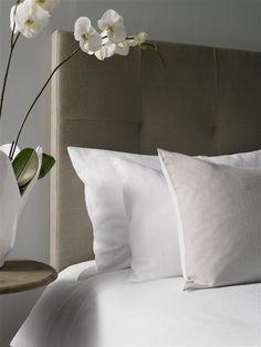 Linen upholstered bedhead