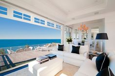 I want a view as beautiful as this with a living room as open as this.