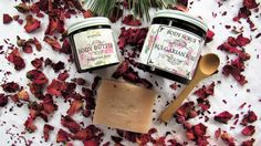 Natural Bulgarian Rose Beauty Care Gift Set, Organic Rose Body Scrub, Body Butter & Bar Soap, Holiday Gift, Gift Idea by ScentualAroma on Etsy