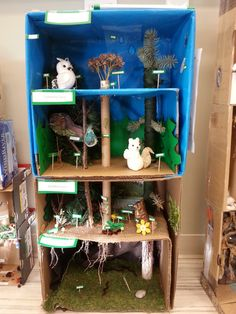 Here's some photos from a project any Science teachers (and Art!) out there … Here's some photos from a project any Science teachers (and Art!) out there might find interesting. We have a very creative Science tea… Science Projects For Kids, Lessons For Kids, Science For Kids, Science Activities, Science And Nature, School Projects, Art For Kids, Science Experiments, Rainforest Project