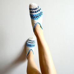 Turkish knit slipper socks by laMarmotaCafe on Etsy, $24.00