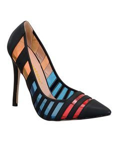 ab25dbe967b Love this Black  amp  Blue Stripe Palm Pump on  zulily!  zulilyfinds Blue