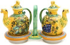 Google Image Result for http://www.tastearts.com/store/images/large/oil_vinegar_cruet_set_italian_majolica_ceramic_LRG.jpg