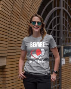 Beware Left Handed Funny Table Tennis T-Shirt shirts, apparel, posters are available at TeeChip. Serena Williams, Tennis Photography, Tennis Funny, Dental Hygienist, Dental Implants, Tennis World, Tennis Workout, Tennis Gifts, Tennis Quotes
