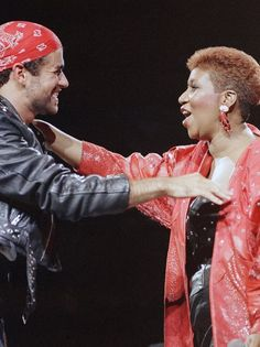 """""""I Knew You Were Waiting for Me"""" - George Michael and Aretha Franklin."""