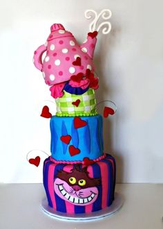 Alice in Wonderland Birthday By luckygurl1203 on CakeCentral.com