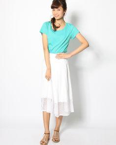 スムース半袖Tシャツ|カットソー | Viaggio Blu(ビアッジョブルー) | VICKY ONLINE SHOP