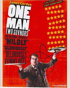 James Corden Autographed Signed 8X10 Photo COA 'One Man Two Guvnors'