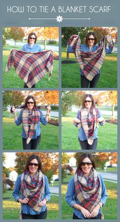 How to Tie A Blanket Scarf Kerchief Style
