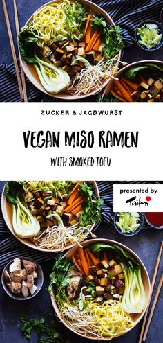Vegan Miso Ramen (full of veggies!) - - Vegan Miso Ramen (full of veggies!) Food Vegan Miso Ramen with smoked tofu Ramen Recipes, Vegan Dinner Recipes, Vegan Dinners, Asian Recipes, Diet Recipes, Vegetarian Recipes, Cooking Recipes, Ramen Vegan, Vegan Soups
