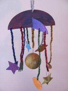 preschool art hanging mobile - Google Search