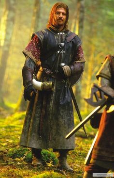 LOTR - Boromir ... it suits him well, the swagger and swing, the royal colors, the leather and embroidered cloth!