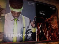#Plakate Sony #Flächenplakatierung #Poster, Sept. 2013