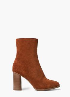 4403d38cf07e8 MANGO Heel Suede Ankle Boot Mango Heels, Mango Boots, Suede Ankle Boots,  Knee