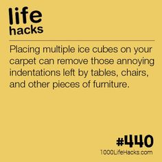 The post Get Indentations Out Of Your Carpet appeared first on 1000 Life Hacks.