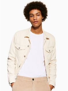 Mens Cream Selected Homme Denim Jacket Denim Jacket Men, Denim Jackets, Jacket Images, Men's Coats And Jackets, Scandinavian Style, Cool Suits, Streetwear, Mens Fashion, Moda Masculina