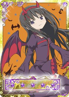 Homura Halloween Madoka Magica Mobage Cards
