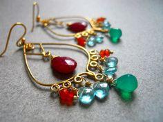 Tropical Getaway Chandelier Earrings.