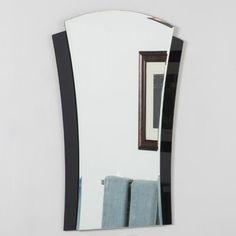 Found it at Wayfair - Deco Wall Mirror Vanity Wall Mirror, Art Deco Mirror, Art Deco Bathroom, Round Wall Mirror, Mirror Glass, Master Bathroom, Bathroom Mirrors, Bathroom Cabinets, Bathroom Ideas